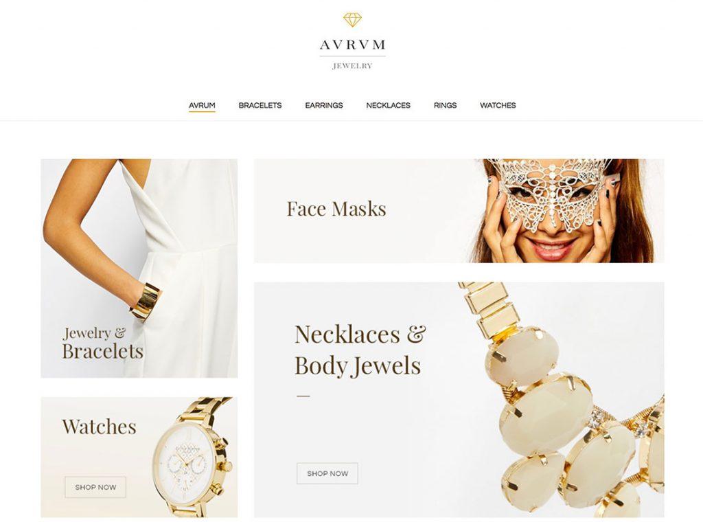 best jewelry website template