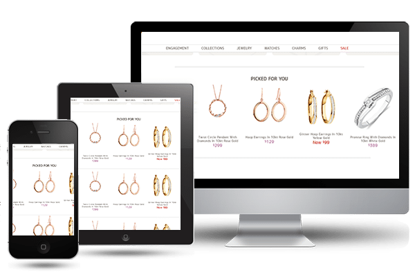 jewelry advertising ideas on tablets