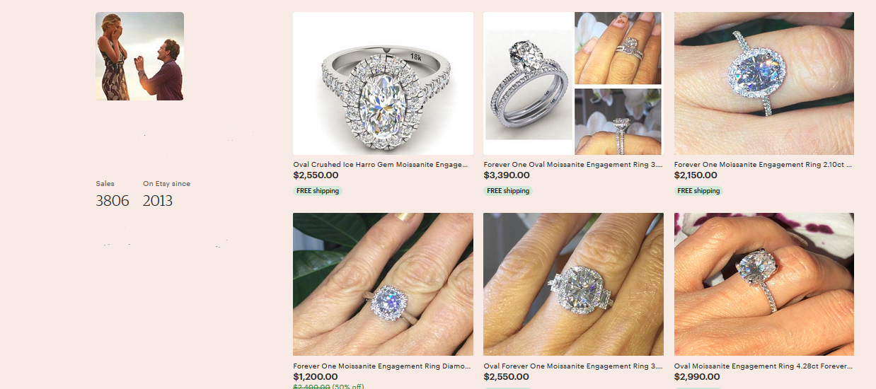 jewelry website design store